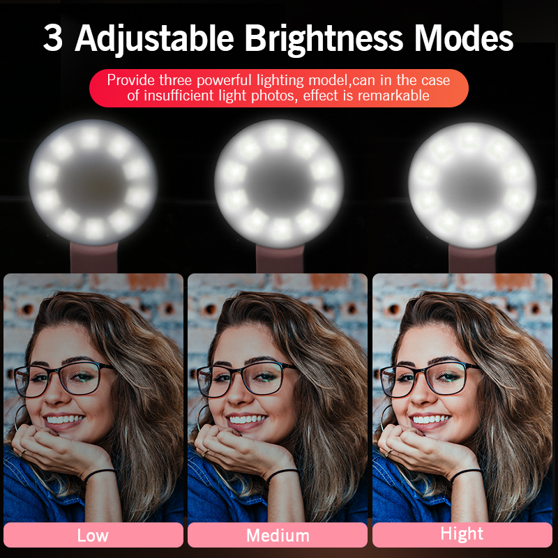 cheapest 2020 RGB Ring Light With Tripod Phone Clip Selfie Colorful Photography Lighting for TikTok Vlogging Short Video YouTube Live