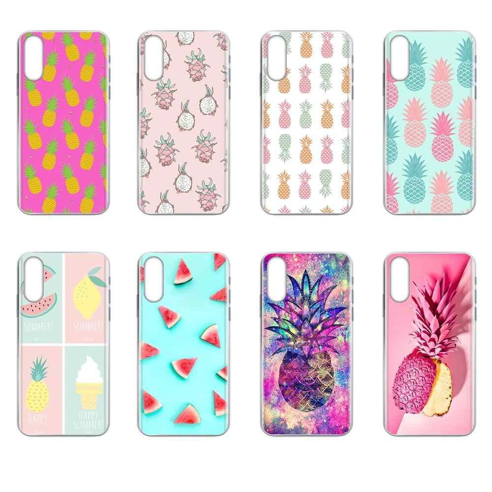 Cute Lovely Pineapple Fruit Iphone Wallpaper For Samsung Galaxy J8 J7 Pro 2018 2017 2016 2015 J6 J5 J4 J3 J2 Prime J1 Phone Case Covers Aliexpress