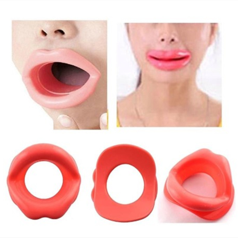 Hot New Women Chic Silicone Rubber Face Slimmer Mouth Muscle Tightener Anti-aging Anti-wrinkle Practice Tool Heath Beauty Gadget
