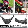 for HONDA XADV 750 X ADV xadv750 2017 2020 2019 Motorcycle Front Wheel Hugger Fender Cover Beak Nose Fairing Cone Extension Cowl