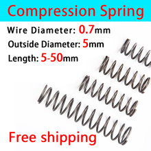 Release Spring Pressure Spring Compressed Spring Wire Diameter 0.7mm, Outer Diameter 5mm Return Spring 10 Pcs