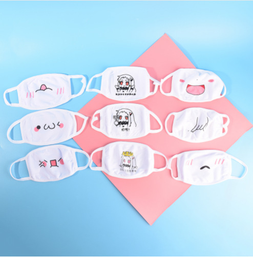 1pc Cute Unisex Funny Tooth Dust Mask Lips Fangs Cotton Mask Cartoon Kpop Flu Mask Emotiction Masque Hot 3