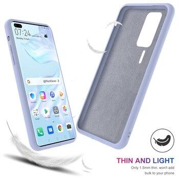 Para huawei p40 pro p40 voltar case slim fit macio tpu phone case material de veludo embutido anti-risco capa protetora case coque bag