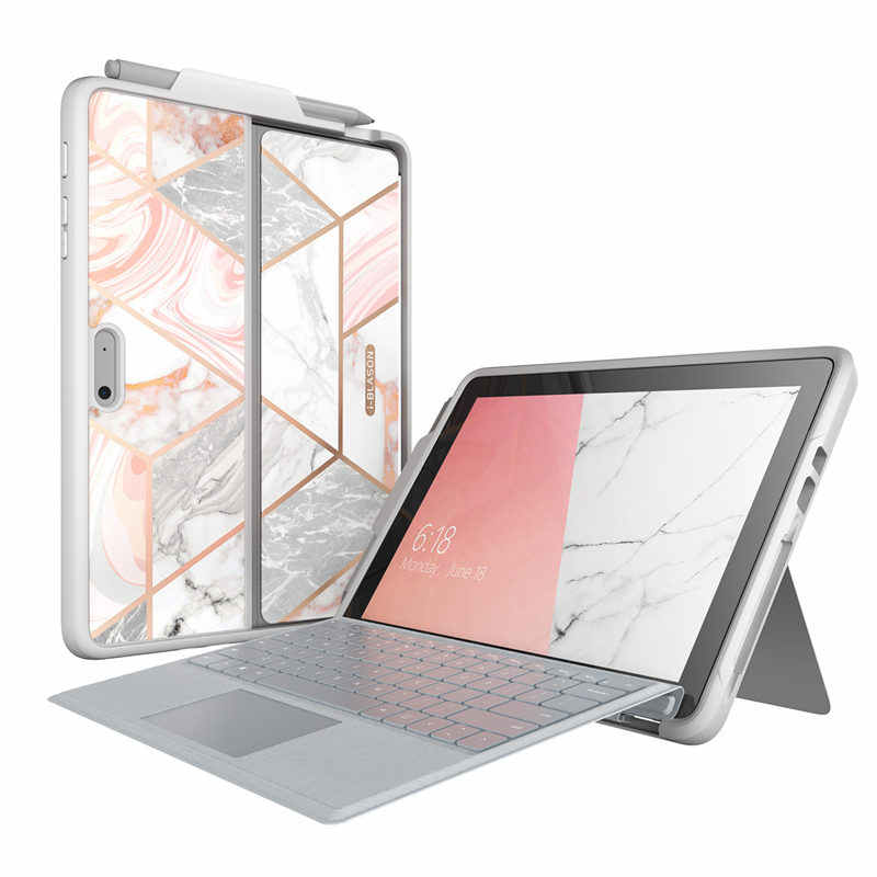 I-BLASON For Microsoft Surface Go Case/ Surface Go 2 Case Cosmo Marble Protective Cover with Pen Holder,Compatible With Keyboard