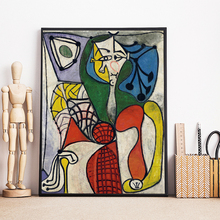 Picasso Classic Head Wall Art Canvas Minimalist Posters Prints Painting Oil Wall Pictures Living Room Modern Home Decor Artwork pop art alec monopoly hd canvas painting print living room home decoration modern wall art oil painting posters pictures artwork
