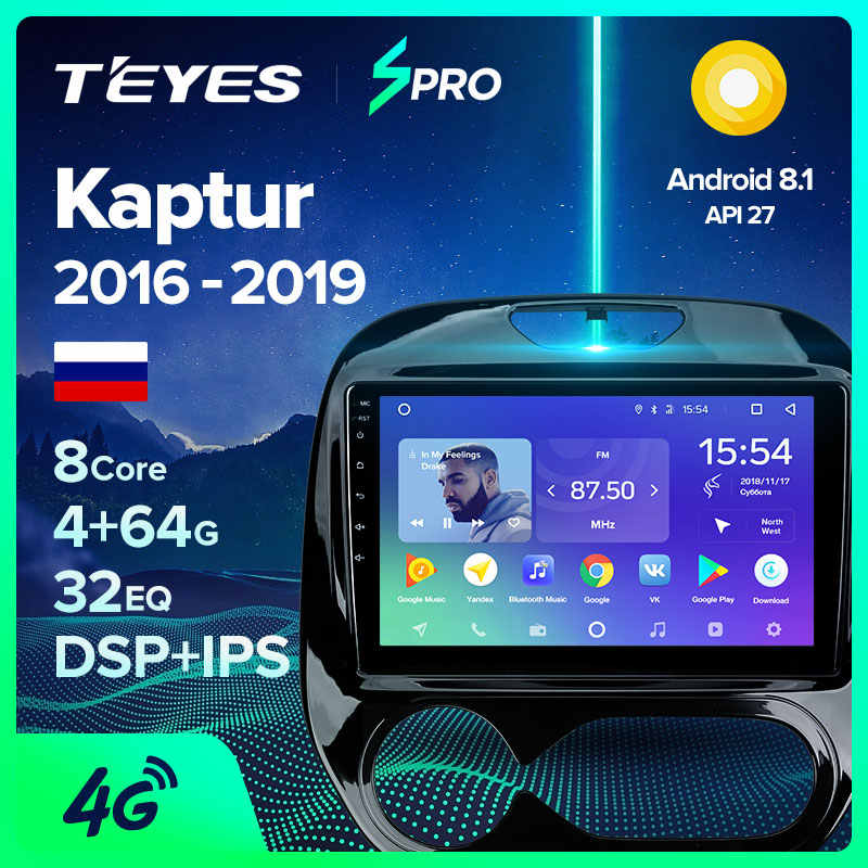 Teyes Spro Voor Renault Kaptur Captur 2016 2018 2019 Auto Radio Multimedia Video Player Navigatie Gps Android 8.1 Geen 2 din Dvd