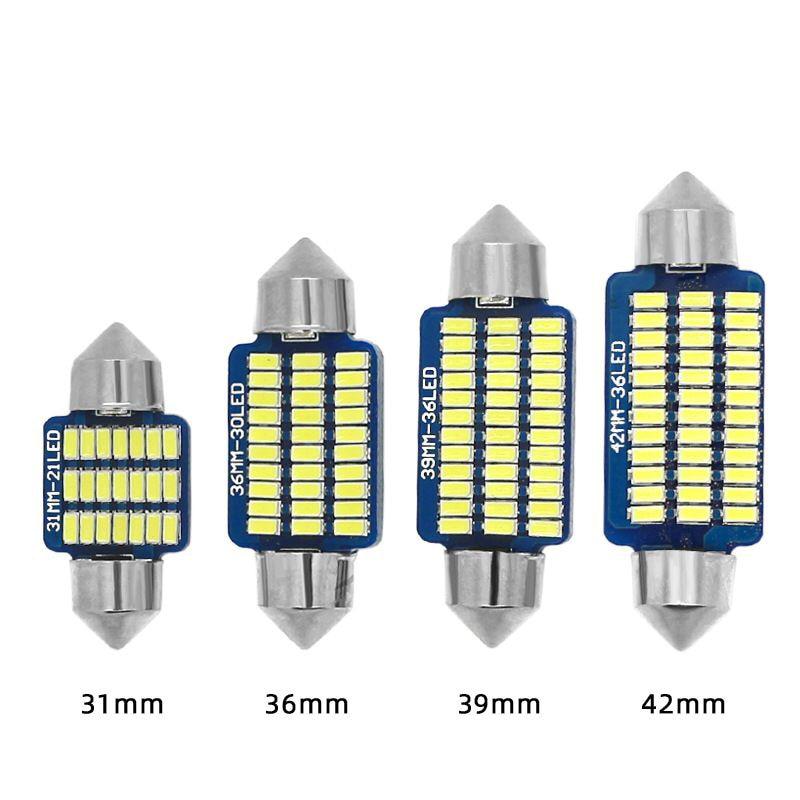 10x Festoon C5W LED luz Canbus coche 31mm 36mm 39mm 41mm Domo bombilla C10W Auto matrícula Interior Lámpara de lectura 12V Lámpara de señalización    - AliExpress