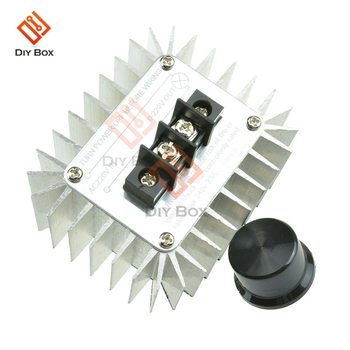 220V 5000W SCR Voltage Regulator Motor Speed Controller Light Dimming Dimmers Thermostat Speed Regulator Governor for LED Light 2000w scr voltage regulator dimming dimmers motor speed controller thermostat electronic voltage regulator module
