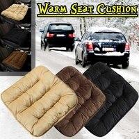 Auto Sitz Abdeckung Winter Jahreszeiten Front Wärmer Warm Kissen Atmungsaktive Protector Mat Pad Auto Zubehör Universal Größe Plüsch Schwarz