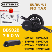 Conversion-Kit Motor BBS02 Electric-Bike 8fun Bafang 48v 750w Samsung Cells Lithium-Battery-Kit
