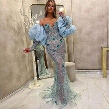Вечерние платья Русалочки с кристаллами и бусинами сердечком