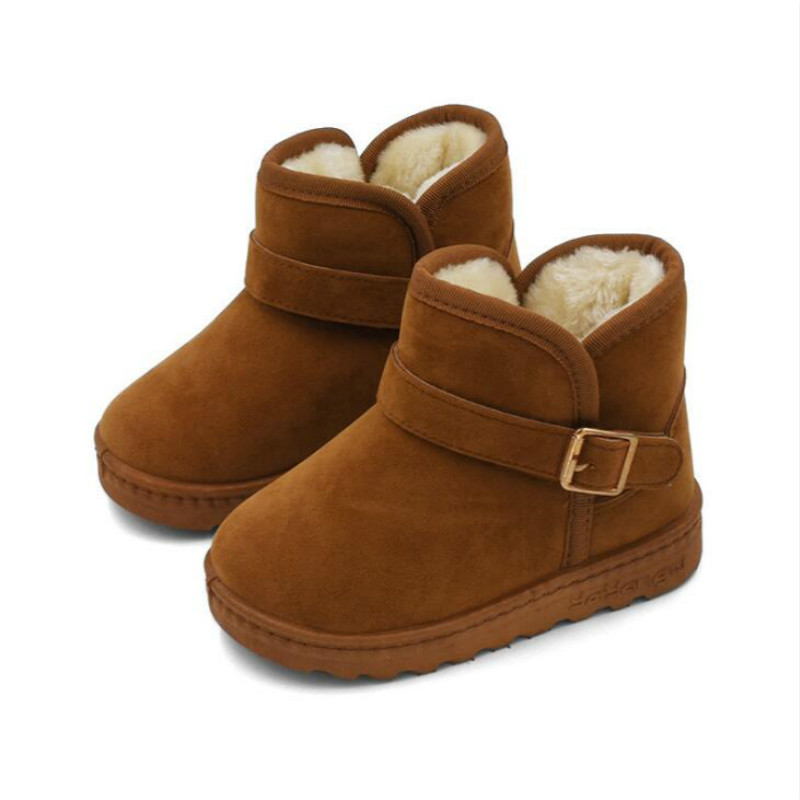 Children Fashion Boys And Girls Casual Shoes Snow Boots Children Running Shoe Winter Plus Velvet Warm Shoes For Kids Boots