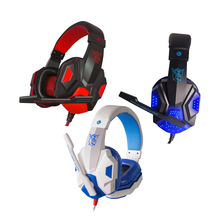 2pcs 3.5mm Wired Game Headset Deep Bass Gamer Earphone Professional Computer Gaming Headphone With HD Microphone for Computer brand isk mdh9000 professional hifi hd monitor headphone fully closed type for computer recording monitoring headset
