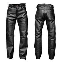 Pantalon en Faux cuir noir pour homme, Lingerie exotique, Latex, fermeture éclair, PVC, Clubwear, gay, gothique, fétiche