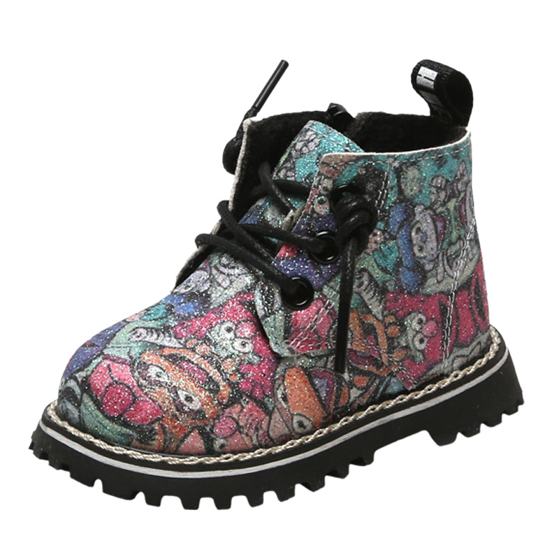 Fashion Cartoon Print Baby Boots Girls Boys Children Shoes Kid Winter First Walkers Prewalkers High Quality 0-2 Years