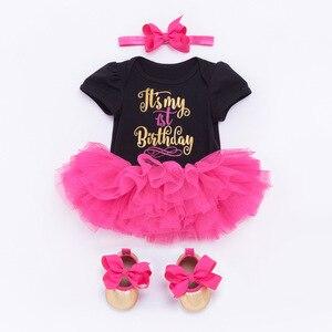 Одежда для маленьких девочек платье принцессы с юбкой-пачкой для первого дня рождения для девочек комплект из двух предметов для дня рожден...