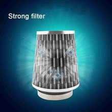 цена на New Universal Air Filter 76MM 70mm 65mm Car Performance High Flow Air Filter For Cold Air Intake 3inch Air Intake Filter Kit Red