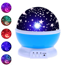 Gifts for Kids Star Starry Sky LED Night Light Projector Moon Lamp Battery USB Bedroom Lamp