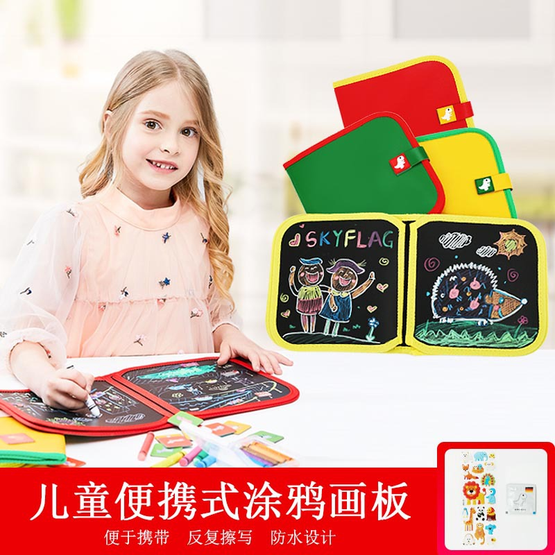 Douyin Hot Selling Portable Household Graffiti Sketchpad Million Times Wipable Double-Sided CHILDREN'S Drawing Board