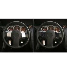 Внутренняя отделка кнопки рулевого колеса 2x аксессуары из углеродного волокна для Nissan 350Z 2006-09