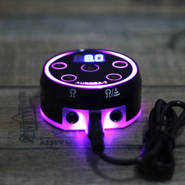 Hot Aurora-2 tatuaż zasilanie Upgrade cyfrowy LCD nowy Mini LED panel dotykowy zasilacze do tatuażu Rotary Machines Pen zestawy