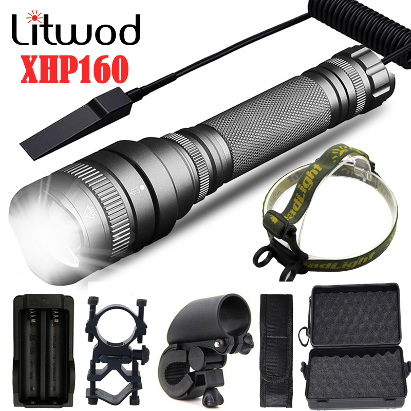 XHP160 Zoomable Powerful Tactical Led Flashlight Torch High Quality 8000lm 18650 Battery Waterproof Hunting Lantern Light