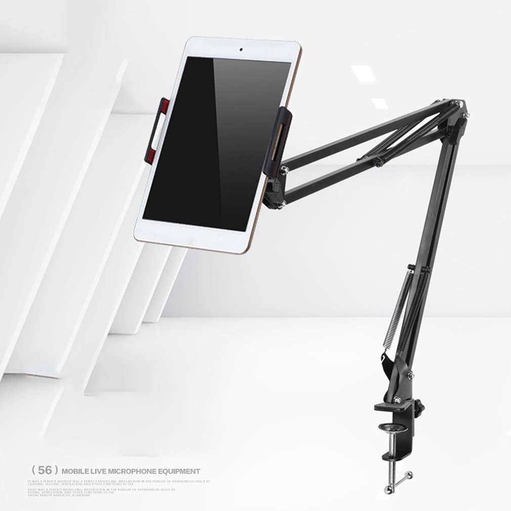 6 to 11 inch Tablet Holder For ipad stand 2 3 4 Air Mini Support Long Arm Mobile Phone Tablet Bed/Desktop Car Clip Bracket Mount