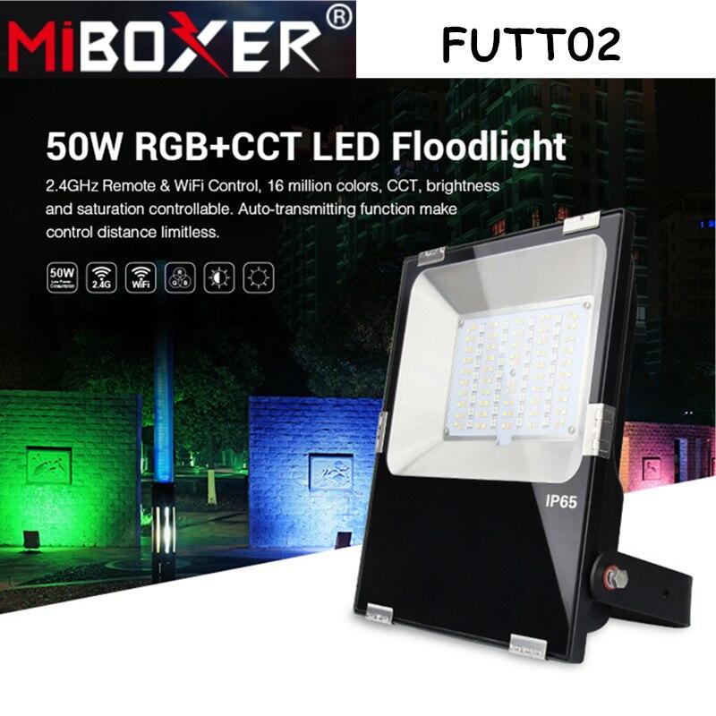 Miboxer FUTT02 50 Вт RGB CCT Светодиодный прожектор светильник AC100 ~ 240 В водонепроницаемый IP65 светодиодный уличный светильник садовый светильник Pulic