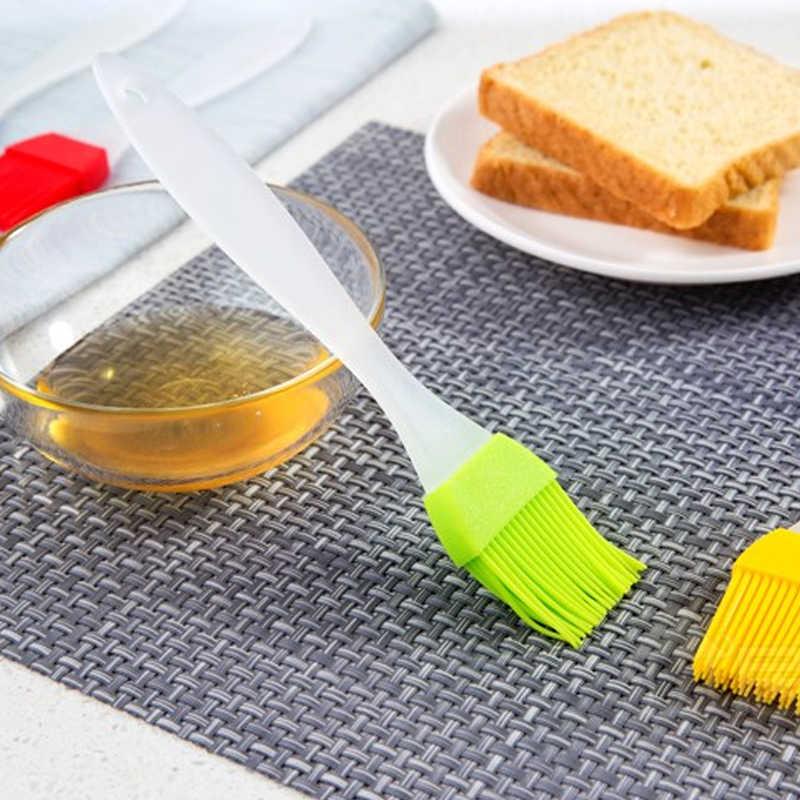 1 adet mutfak alet silikon hamur işi fırçası yıkama Pot barbekü izgara isıya dayanıklı yağ fırçası kek ekmek tereyağı ocak araçları