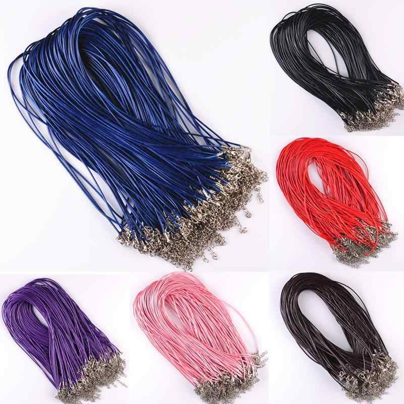 Adjustable Chains  DIY Jewelry Making Accessories String Cord 10 Pcs 1.5mm Necklace Charms Findings Real Leather