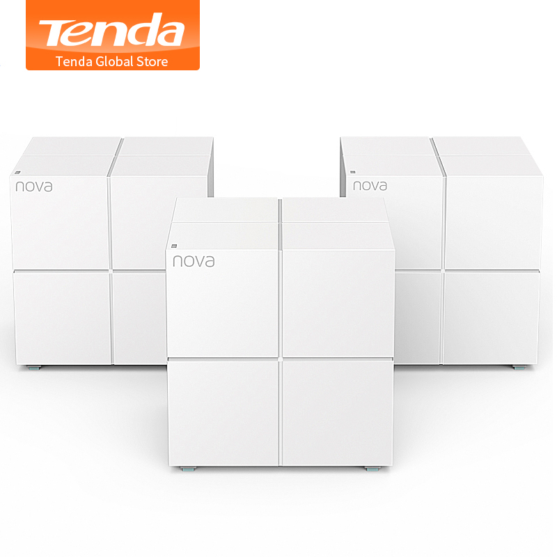 Tenda Nova MW6 Whole Home Mesh Wireless WiFi System with 11AC 2.4G/5.0GHz WiFi Wireless Router and Repeater, APP Remote Manage serveware