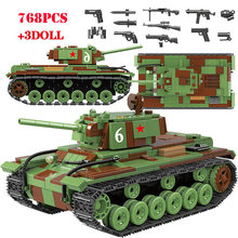 768+PCS War KV 1 Heavy Panzer Tank Building Blocks Toys Compatible Legoed Technic Military Tank Weapon City Bricks Toys For Kids(China)