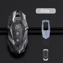 Цинковый брелок для автомобильных ключей, чехол для Hyundai Elantra GT Kona Santa Fe Veloster Смарт чехол дистанционного брелока протектор сумка стайлинга ав...