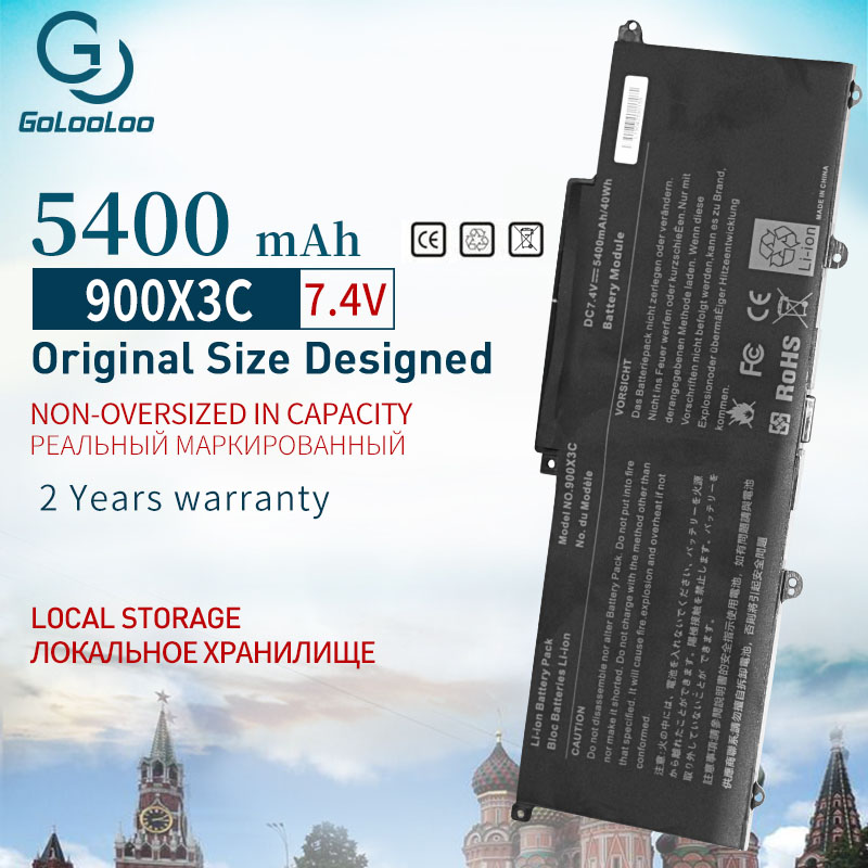 Golooloo 5400 MAh Laptop Battery AA-PBXN4AR AA-PLXN4AR BA43-00349A For SAMSUNG 900X3C 900X3D 900X3E NP900X3C NP900X3D NP900X3E