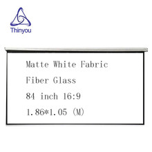 Thinyou 84 inch 16:9 Matte White Fabric Fiber Glass Curtain Pull-Down hand pull projector screen LED DLP Beamer