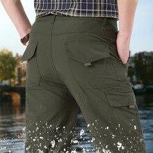 NIGRITY hommes séchage rapide été armée militaire pantalon pantalon décontracté hommes tactique Cargo pantalon mâle léger imperméable pantalon