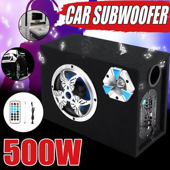 6 Inch 500W Under-Seat Car Subwoofer Modified Speaker Stereo Audio Bass Amplifier Subwoofers Car Audio Auto bluetooth Speakers