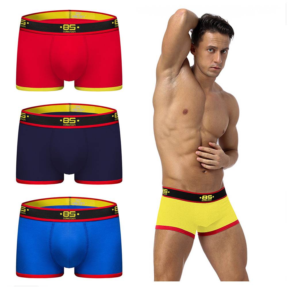 Men Underwear Boxer Penis Panties Slip Sexy Cotton Solid 1PCS Cuecas