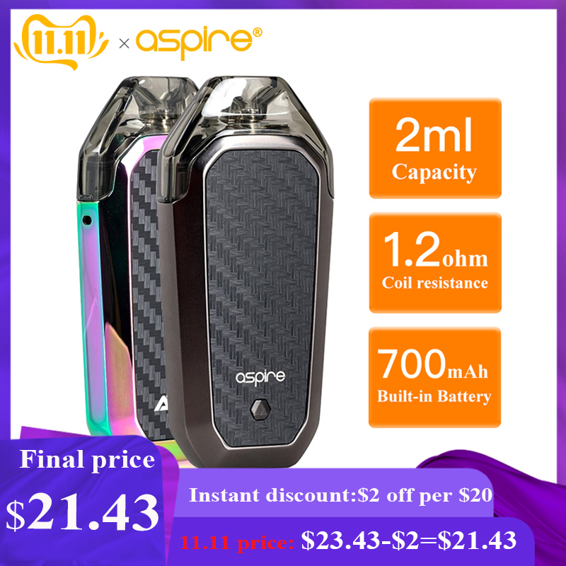 Electronic Cigarette Aspire AVP AIO Kit Vape 2ml Pod Atomizer 1.2ohm Coil Built-in 700mAh Battery Vapeador Vaper VS Minifit Kit
