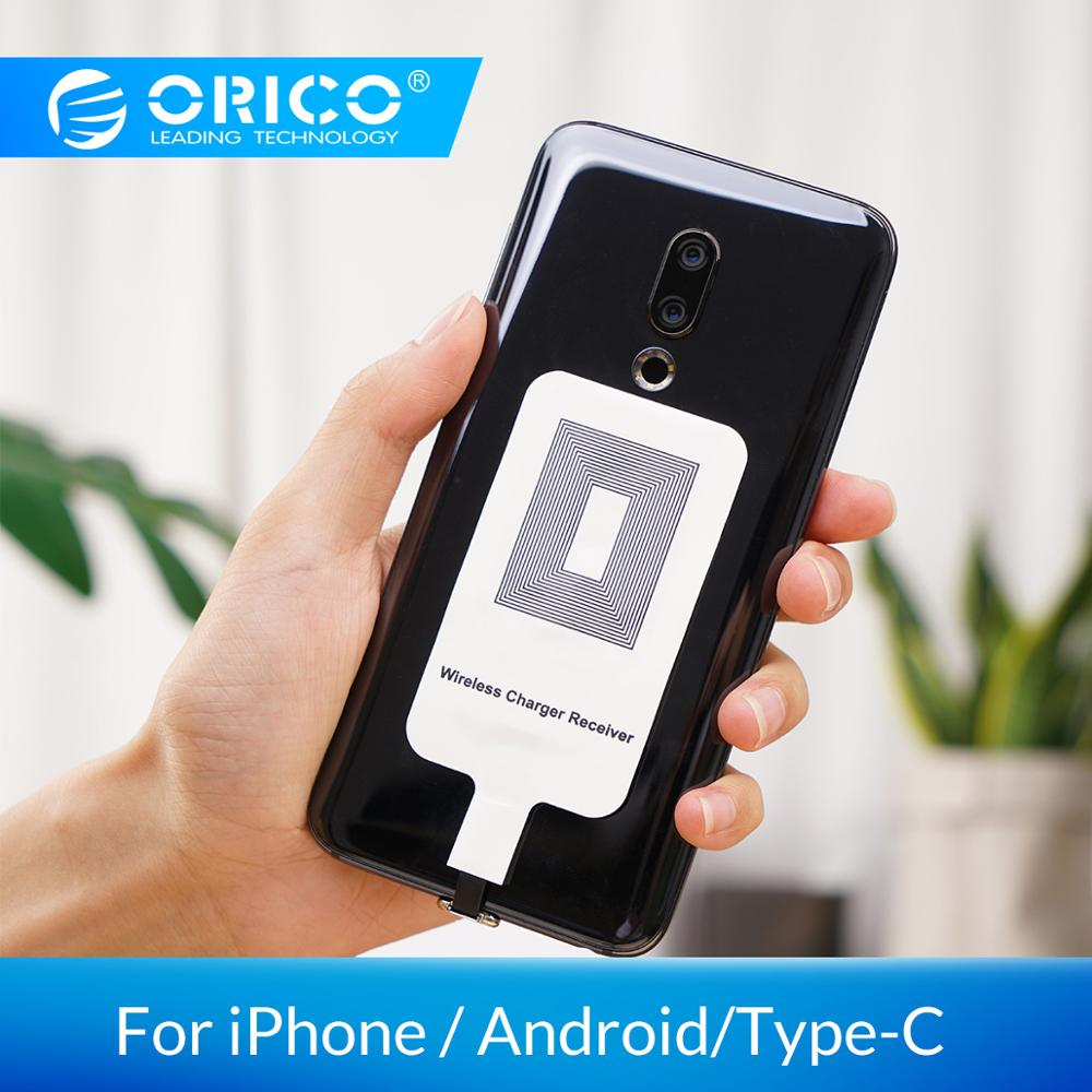 ORICO QI Wireless Charger Receiver For IPhone Wireless Charging Receiver For Micro USB Type-c Phone