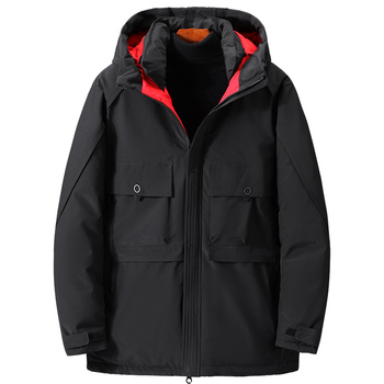 Casacos Chaquetas Hombre Winter Large Size Cotton Coat Fat Male Loose Tooling Casual Jacket Thick Parka Big Pocket Solid Color