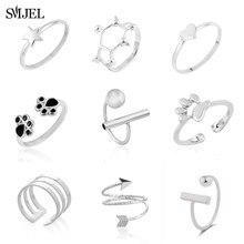 SMJEL Punk Rock Chemische Geometrische Ring Vrouwelijke Pijlen Ster Maan Ringen voor Vrouwen Mode Mannen Sieraden Teen Ring Anillos Nieuwe jaar