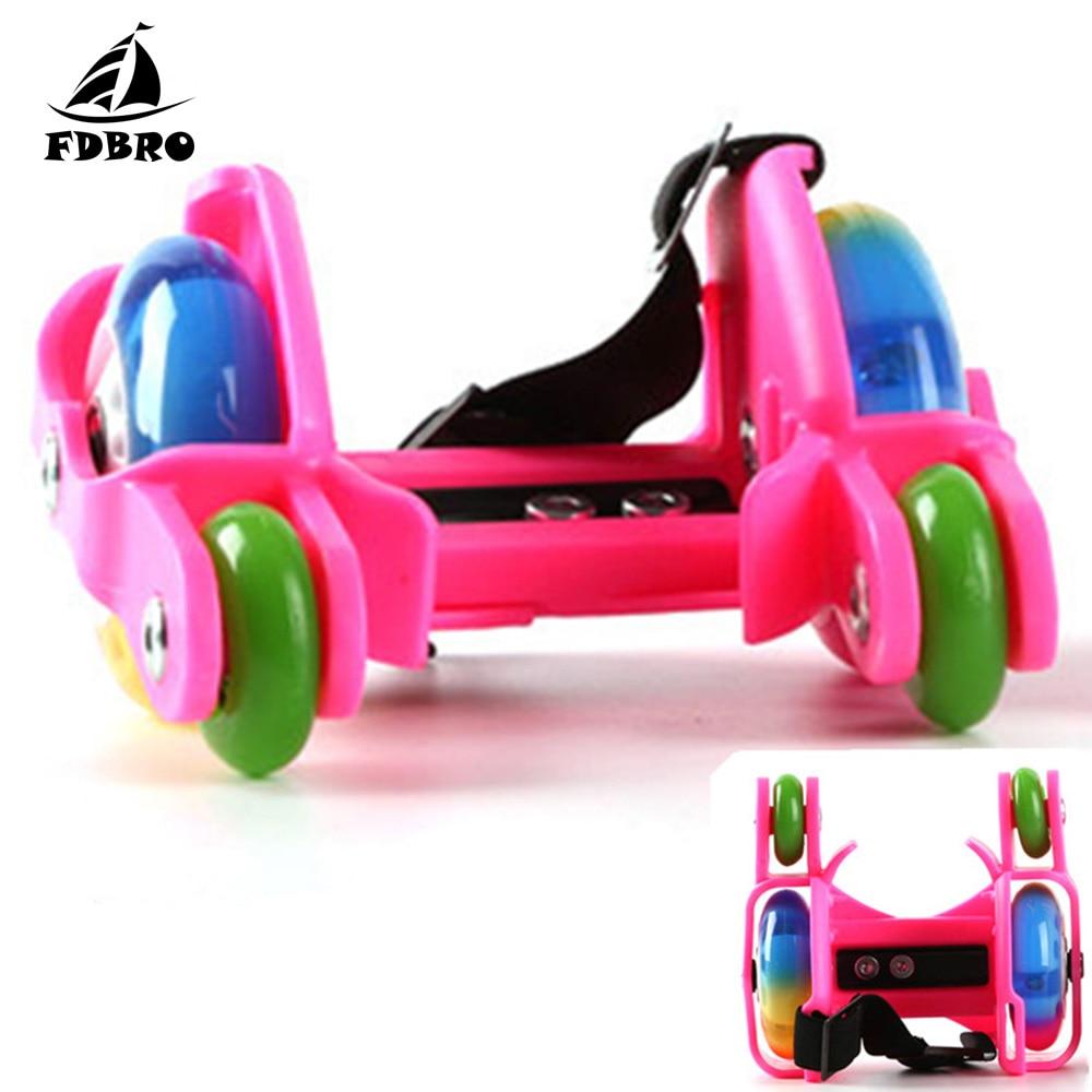 FDBRO Children LED Flashing Roller Skate Shoes With Hot Wheel Sports Heel Skates Rollers Shoes Inline Skating Adult Skateboard