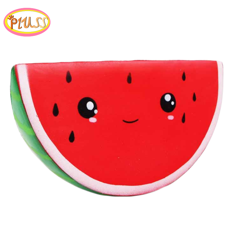 Kawaii  Jumbo Watermelon  Big Squishy Simulated Fruit Slow Rising Bread Scented Squeeze Toy Stress Relief For Kid Xmas Gift