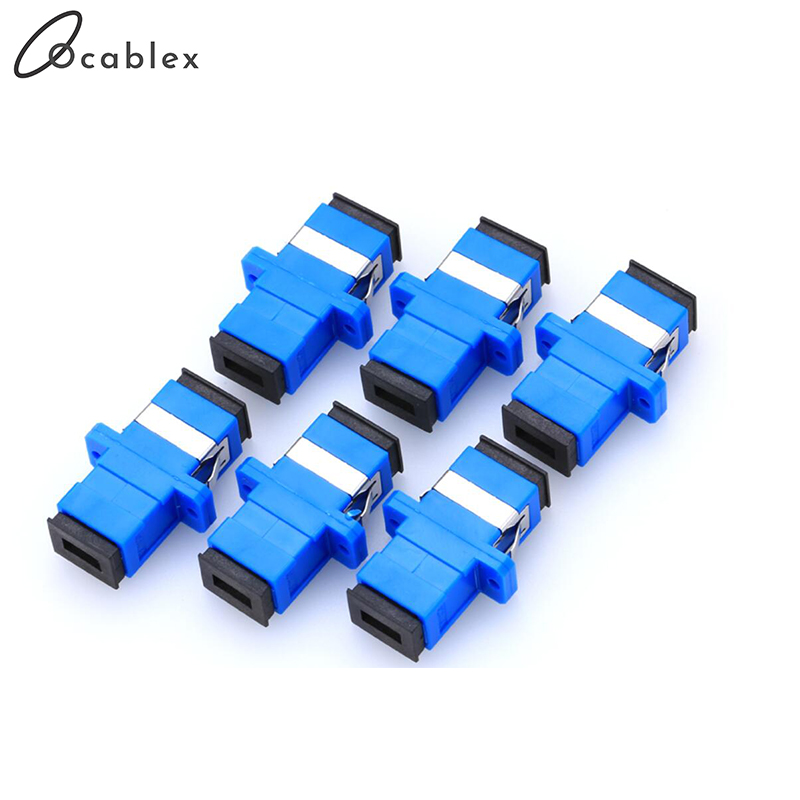 100pcs/lot SC/UPC Adaptor Fiber Optic Adapter Flange Fiber Coupler For Telecome network and Optic communication Equipment
