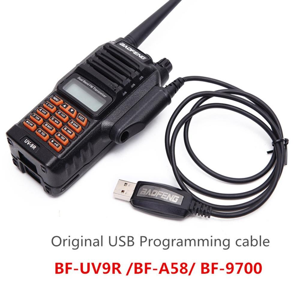 For BAOFENG BF-A58 UV-9R USB Programming Cable With CD Driver Waterproof For BAOFENG UV-XR UV 9R BF A58 Walkie Talkie