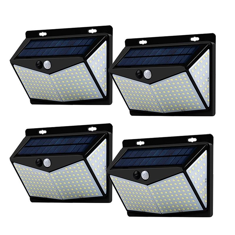 SOWOZ  Solar Led Light Outdoors Waterproof  208 LED Solar Lamp PIR Motion Sensor + CDS Night Sensor Street Light  Garden Light