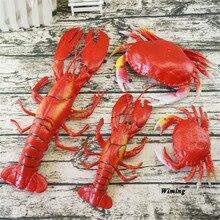Simulation Lobster shrimp Crab sea cucumber Model toys hotel restaurant decoration Artificial Foods fake food seafood props