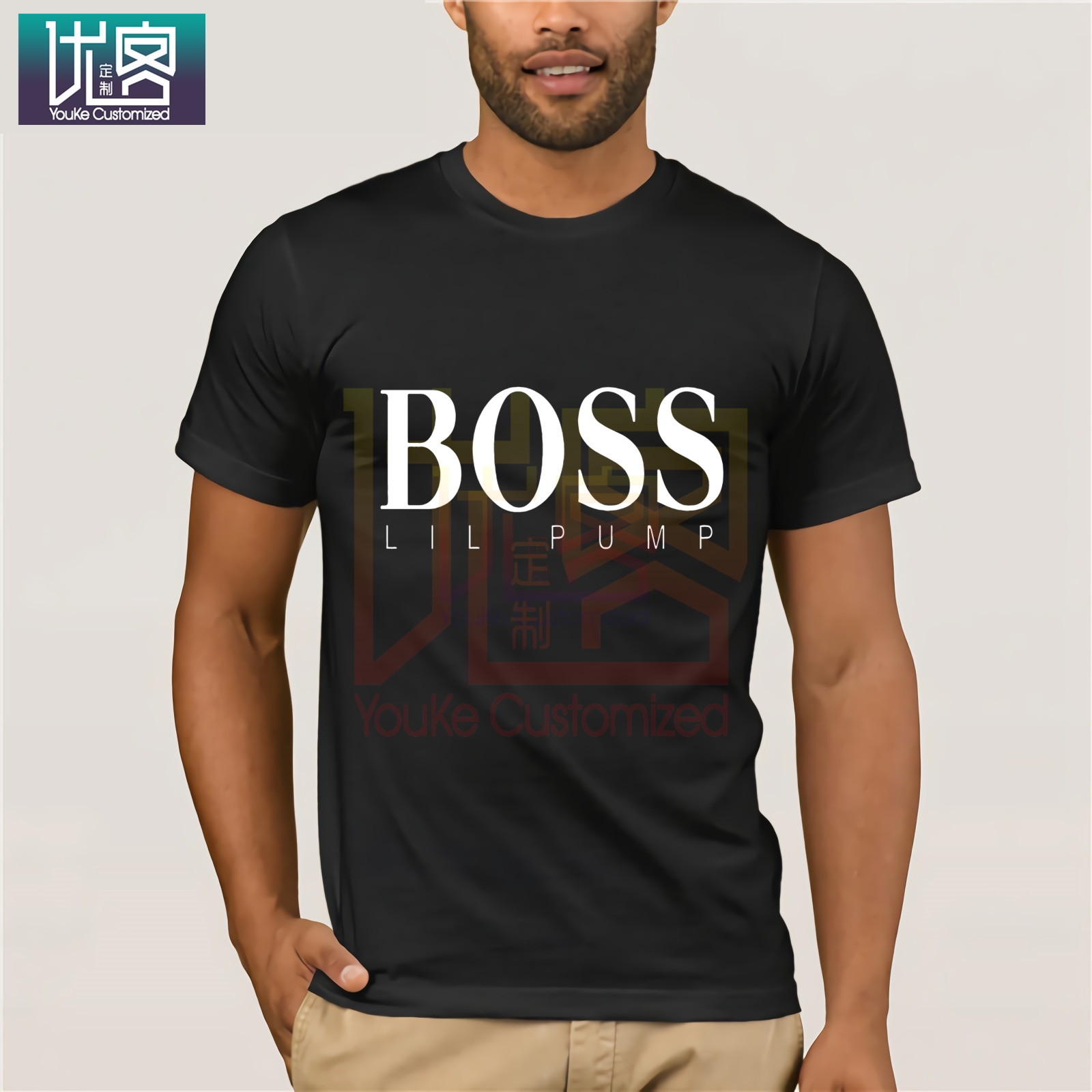 Men Casual Tee Shirts Boss Hip Hop Lil Pump Designer T Shirt Man Cotton Short Sleeve Tee Shirts Leisure Men Good Design Tshirts