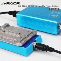 Aletler'ten El Aleti Setleri'de Jyrkior SS T12A XF 4 in1 braket kaldırma için ön ısıtıcı iPhone X XR XS XS MAX hızlı kaldırmak orta çerçeve ısıtma platform araçları